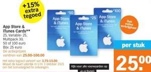App Store & iTunes Card +15% Extra (ook online verkrijgbaar) @ Albert Heijn