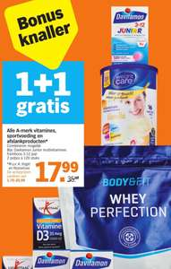 1+1 Gratis alle A-merk vitamines, sportvoeding en afslankproducten o.a. Body&Fit @ Albert Heijn