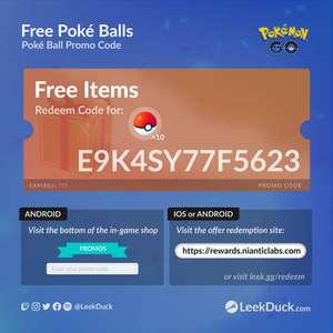 Gratis 10 Pokéballs @Pokémon GO