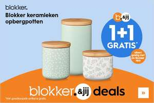 1+1 op Blokker keramische opbergpotten @ Blokker App