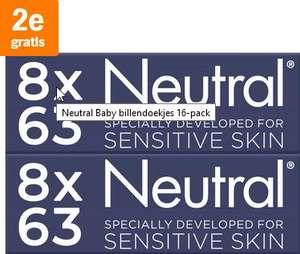Neutral Baby billendoekjes Sensitive 16-pack 2e gratis @ AH