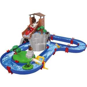 Diverse waterbanen in de aanbieding!! - AdventureLand, Waterbaan, 57-delig, blauw, inclusief 2 speelfiguren en 2 boten, vanaf 3 jaar