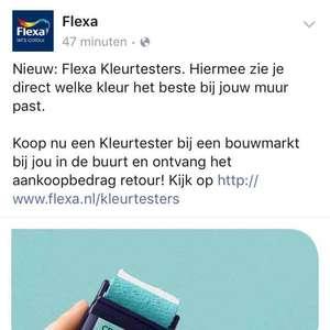 Flexa kleurtester geld terug