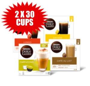 Nescafe Dolce Gusto koffiecups 2 x 30 cups