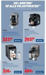 (Makro) Koffie volautomaten 20% korting weekenddeal