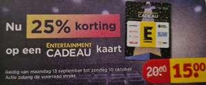 Kruidvat - 25% Korting op entertainment cadeaukaart