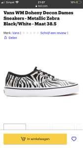 Vans metallic zebra