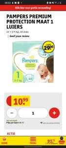 Pampers Premium Protection 1-5 luiers vanaf 11 cent per stuk