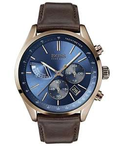 Hugo Boss - 1513604 - Horloge - Mannen - Bruin- Leer - Ø 44 mm