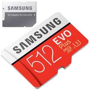 SAMSUNG EVO PLUS 512 GB mSD 100MB/S bij DATAIO