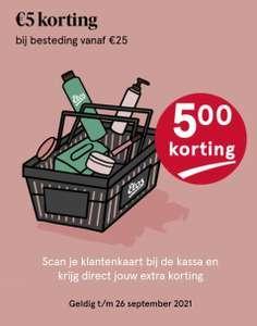 Etos 5 euro korting bij besteding v.a. 25 euro