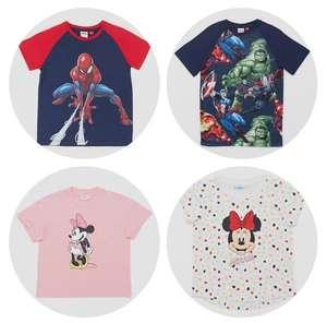 Disney shirts, shorts en tops van €12,99 naar €6,99 + gratis verzending @ Perry Sport