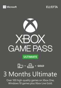 3 maanden Xbox Game Pass Ultimate Turkije voor €16,99 @ Eneba