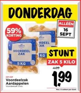 5KG Aardappelen voor 1,99!!! (59% korting)