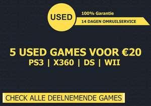 5 used games voor €20 (PS3, Xbox 360, DS en Wii)