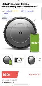 iRobot Roomba Combo robotstofzuiger