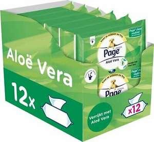 Page Alo Vera Vochtig wc papier - 12 stuks