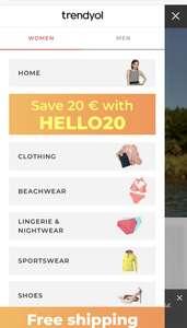 TRENDYOL €20 korting bij besteding €30