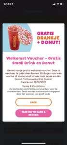 Gratis donut en kleine drinken naar keuze bij download dunkin donuts app