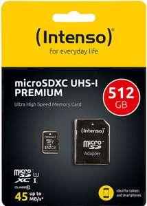 Intenso microSDXC Card 512GB Class 10 UHS-I Premium
