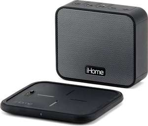 iHome iBTW88b Portable Bluetooth Speaker + Qi Draadloze Oplader