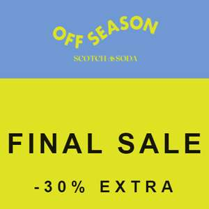 Scotch & Soda outlet: tot 70% korting + 30% extra korting