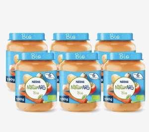 NaturNes Bio Wortel Tomaat Kalkoen - babyvoeding biologisch - vanaf 6 maanden - 6 potjes