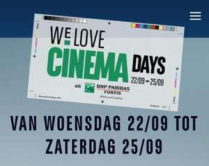[GRENSDEAL BELGIË] We love cinema days, 4 dagen alle films aan €6
