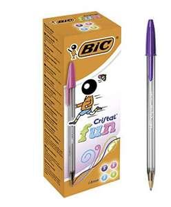 BIC Cristal Fun Balpennen Brede Punt (1,6 mm) - Verschillende Kleuren, Doos van 20 Stuks