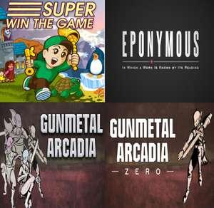 4 Gratis PC games: Super Win the Game, Gunmetal Arcadia Zero, Gunmetal Arcadia, en EPONYMOUS @Itch.io