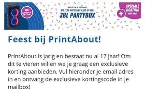 20% korting huismerk PrintAbout