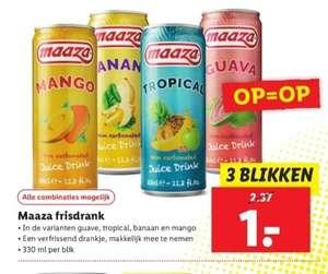Maaza frisdrank 3 voor 1,- Lidl