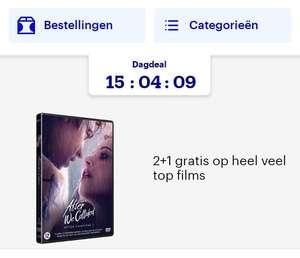 Bol.com 2+1 gratis op veel DVD's