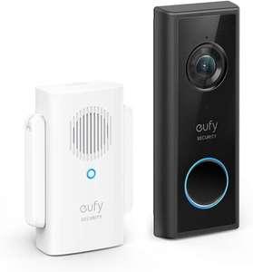 Eufy videodeurbel 1080p resolutie + Draadloze gong €84,14 | 2k = €135,99