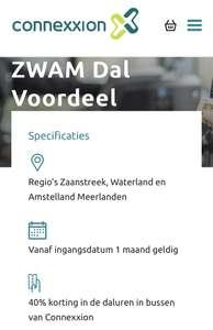 DalVoordeel maandkaart van €3,75 voor €0,02 @ Connexxion Zaanstreek, Waterland & Amstelland Meerlanden