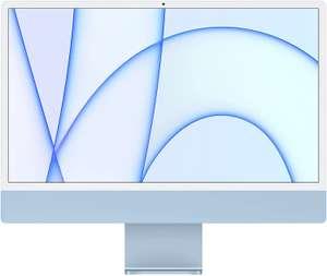2021 Apple iMac (24-inch, Apple M1‑chip met 8‑core CPU en 7‑core GPU, Twee poorten, 8 GB RAM, 256 GB) - blauw