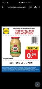 Lidl veggie spread 50% korting