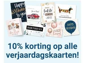 10% korting op alle verjaardagskaarten