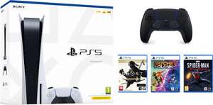 PlayStation 5 Disc Version Bundel (Ghost of Tsushima + Ratchet + Spiderman + DualSense Zwart)