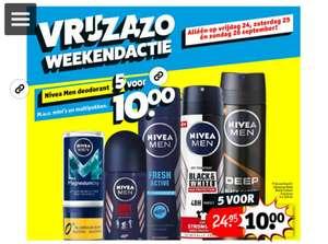 Alle Nivea Men deo - 5 voor €10 @ Kruidvat