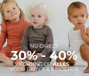 30-40% korting op wollen baby- & kinderkleding