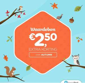 2,50 euro korting bij Social Deal