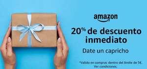20% korting (max. 5 euro) op producten verkocht door Amazon.es [geselecteerde accounts]