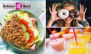 Belegd broodje, drankje & donut voor €3,45 bij Bakker Bart (36 locaties)