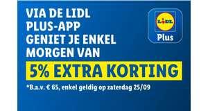 [Grensdeal België] zaterdag 25 sept. 5% extra korting bij Lidl