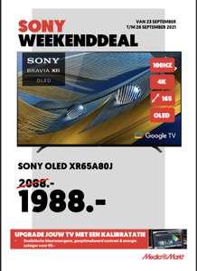 (Alleen in winkels) Sony XR-OLED 65A80J weekenddeal