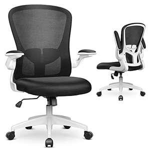 bureaustoel met inklapbare armsteunen(zwart exemplaar)