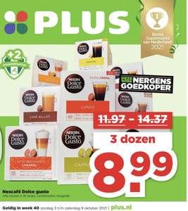 3 dozen Dolce Gusto voor €8,99 bij de Plus