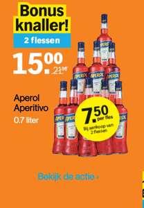 [GRENSDEAL BELGIË] Aperol 2 x 70cl voor €15 bij Albert Heijn