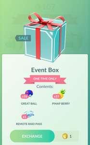 Pokemon Go Event box voor 1 coin
